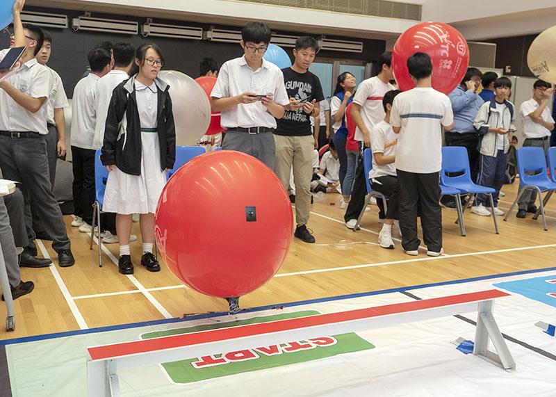本校學生順利進入初中組及高中組的飛船速度賽決賽