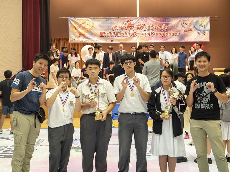 本校學生榮獲初中組及高中組的飛船速度賽冠軍